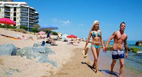 Секс на пляже в испании
